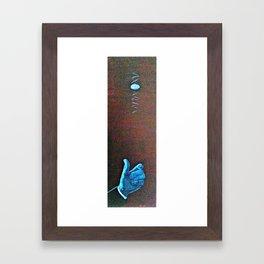 Two Face Coin Flip Framed Art Print