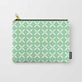 Japanese Stars Pattern Mint Carry-All Pouch