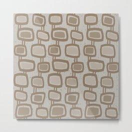 Dangling Rectangles in Brown Metal Print
