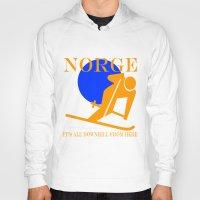 norway Hoodies featuring Norway by rita rose
