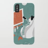 tv iPhone & iPod Cases featuring TV by monrix