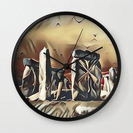 The Equinox at Stonehenge Wall Clock