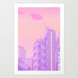 Tokyo Valentine Art Print