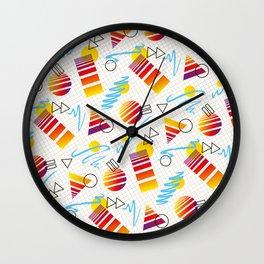 1980s Retro Fashion Print 'Countach' Wall Clock