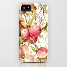Apple Tree, kitchen design red olive green kitchen fruits iPhone Case