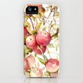 Apple Tree, kitchen design red olive green kitchen fruits iPhone Case