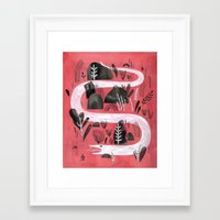 snake Framed Art Prints featuring Snake by Maggie Chiang