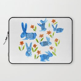 Blue Bunny Bevy Laptop Sleeve