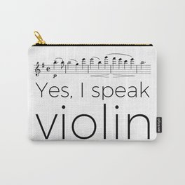 I speak violin Carry-All Pouch