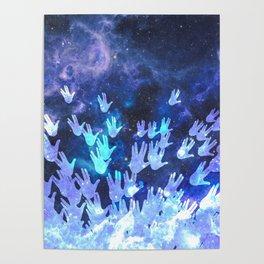H.E.L.L.O. / blue Poster