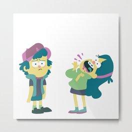 Dipper and Mabel Metal Print