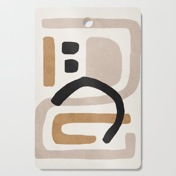 Abstract shapes art, Mid century modern art Cutting Board