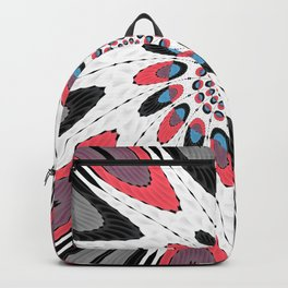 High contrast twirl Backpack