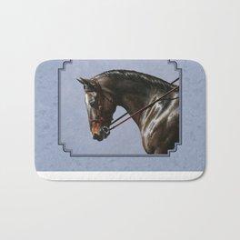 Brown Dressage Horse Bath Mat