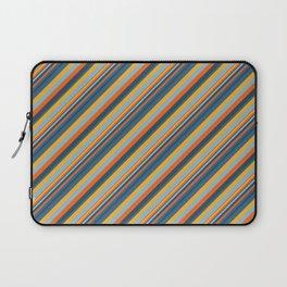 Indigo Orange Sky Blue Inclined Stripe Laptop Sleeve