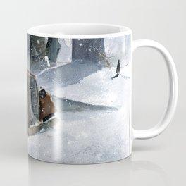 An old truck in snow Coffee Mug