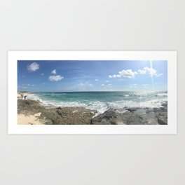 Cozumel Beach Art Print