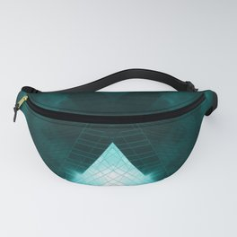 Turquoise skyscraper mill V WH Fanny Pack