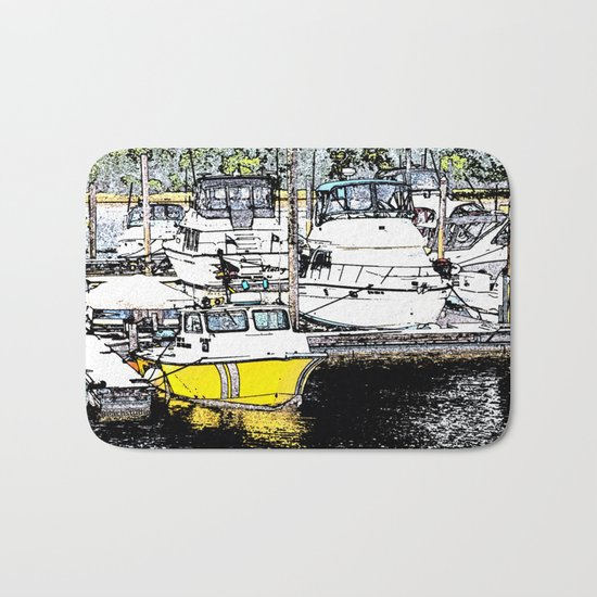 A Day of Boating Bath Mat