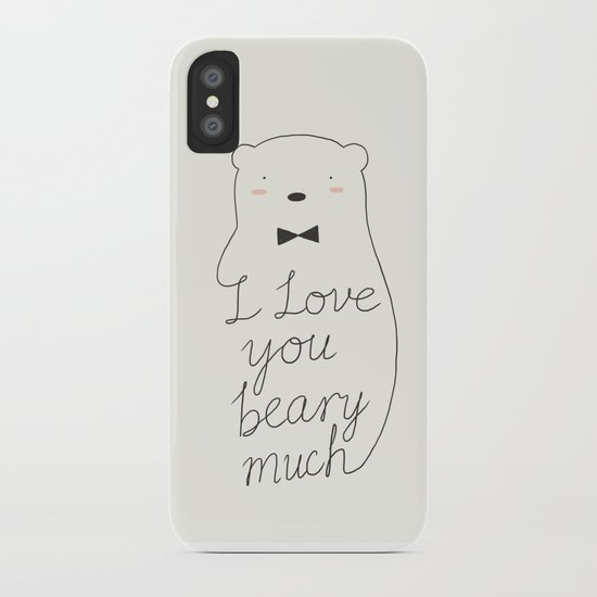 I love your beary much iPhone Case
