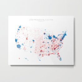 Election Mapping 2008 Metal Print