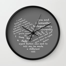 Quotes of the Heart - Clintasha (White) Wall Clock