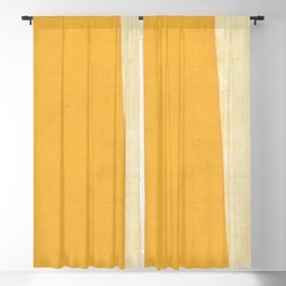 Yellow White Blackout Curtain