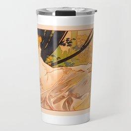 """Alphonse Mucha """"Dawn"""" Travel Mug"""