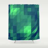 polygon Shower Curtains featuring Polygon Nine by Jambot
