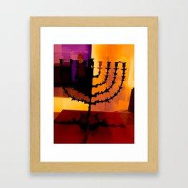 Menorahs 1 Framed Art Print