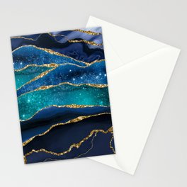 Marble Milky Way Stationery Cards