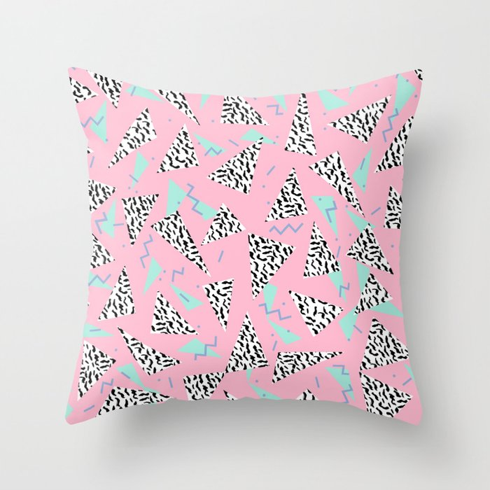 Geometric Minimal Pastel Modern Pattern Design Triangle Memphis Basic Nursery Decor Throw Pillow By Charlottewinter