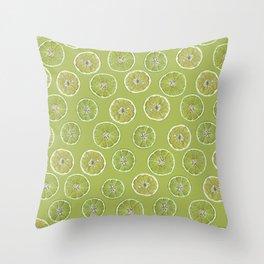 Lime Oranges Pattern Throw Pillow