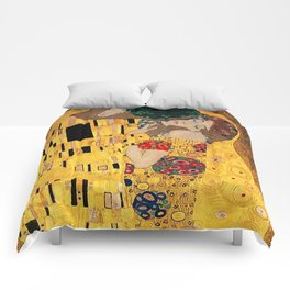 The Kiss - For Interracial Couples Comforters