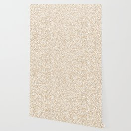 Tiny Spots - White and Tan Brown Wallpaper