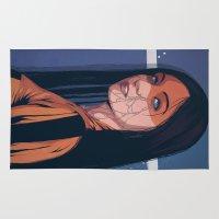 pain Area & Throw Rugs featuring Pain by Conrado Salinas