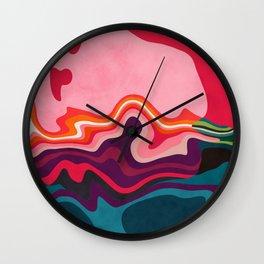 liquid shapes Wall Clock