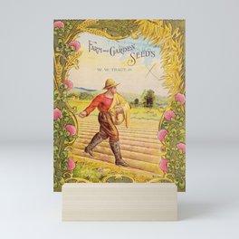 Seed Catalog Garden Floral Fruit Clover Oats Grain Farmer Field Seeding Mini Art Print