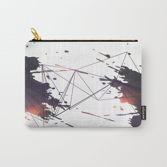 Geometric splatter Carry-All Pouch