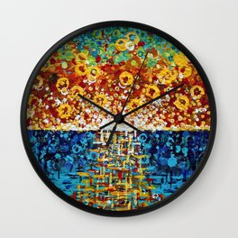 :: Confetti Sunrise :: Wall Clock