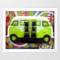 van Art Prints featuring Van by Gabriel Prusmack and Sophia Buddenhagen