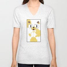 CAKE THE CAT Unisex V-Neck