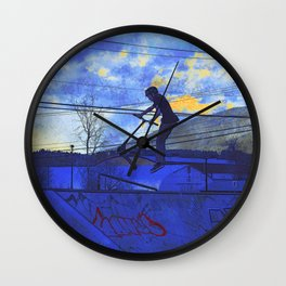 Scooter Sunset Wall Clock