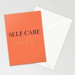 Self care comes first 2 Stationery Cards