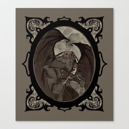 Mothman's Teatime Canvas Print