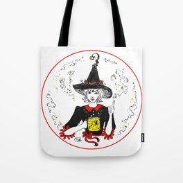 Magic Good Witch coffee lover sweet spider cup Tote Bag