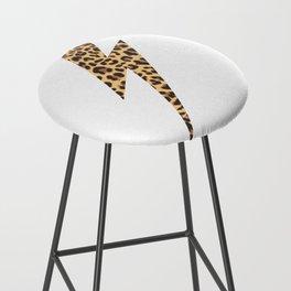 Wild Thing Leopard Lightning Bolt Bar Stool