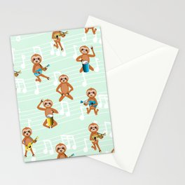 Poster Background | Sloth Pattern Stationery Cards