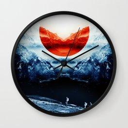 mission blue Wall Clock