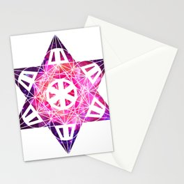 Metatron's Cube Time Wheel ~ Space Lily Stationery Cards